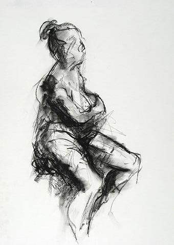 compressed charcoal on paper H 18 x W 14 inches £525