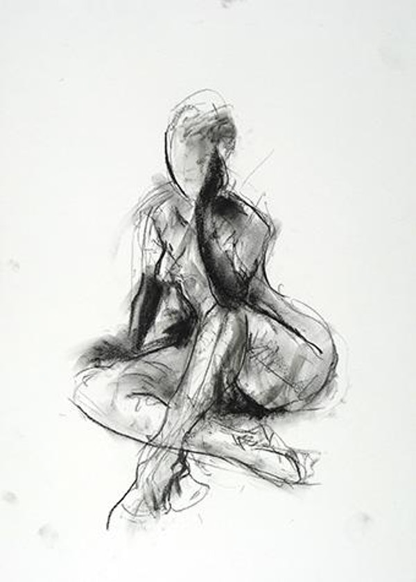 H 18 x W 14 inches compressed charcoal on paper SOLD