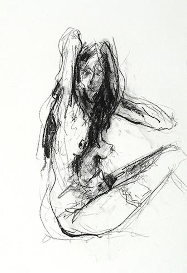 compressed charcoal on paper H 14 x W 8 inches SOLD
