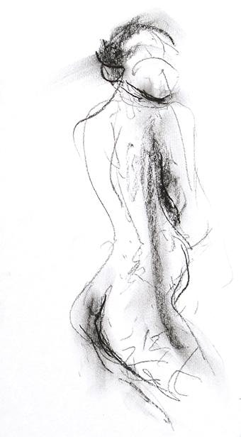 compressed charcoal on paper H 11 x W 6 inches £310