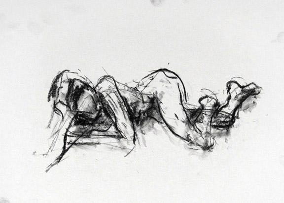 14 x 18 inches 2013 compressed charcoal on paper SOLD