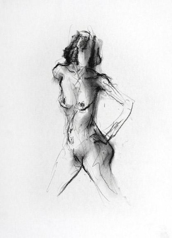 compressed charcoal on paper 18 x 14 inches SOLD