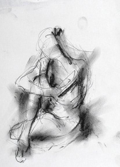 compressed charcoal on paper 18 x 14 inches SOLD 2013