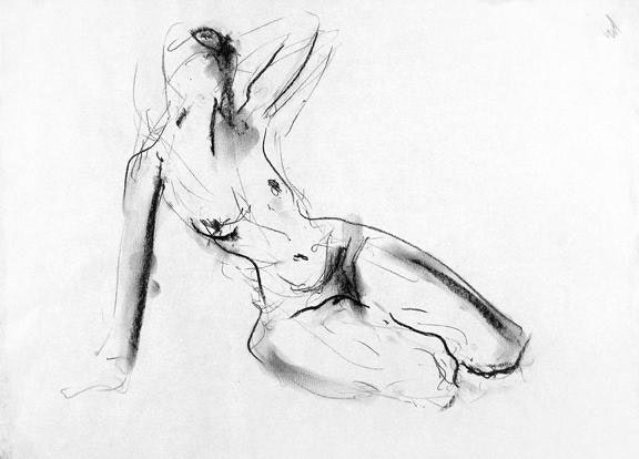 22 x 18 inches  compressed charcoal on paper £435