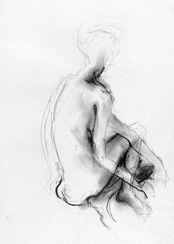 22 x 18 inches 2012 compressed charcoal on paper SOLD