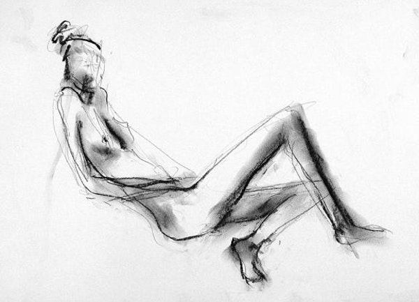 compressed charcoal on paper 22 x 18 inches £420