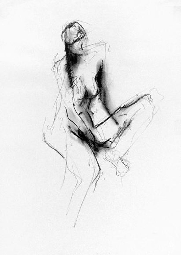 compressed charcoal on paper 22 x 18 inches SOLD
