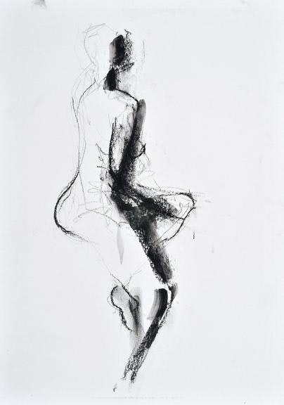 compressed charcoal on paper 22ins x 18ins SOLD