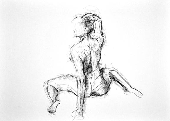 compressed charcoal on paper 17 x18 inches £445