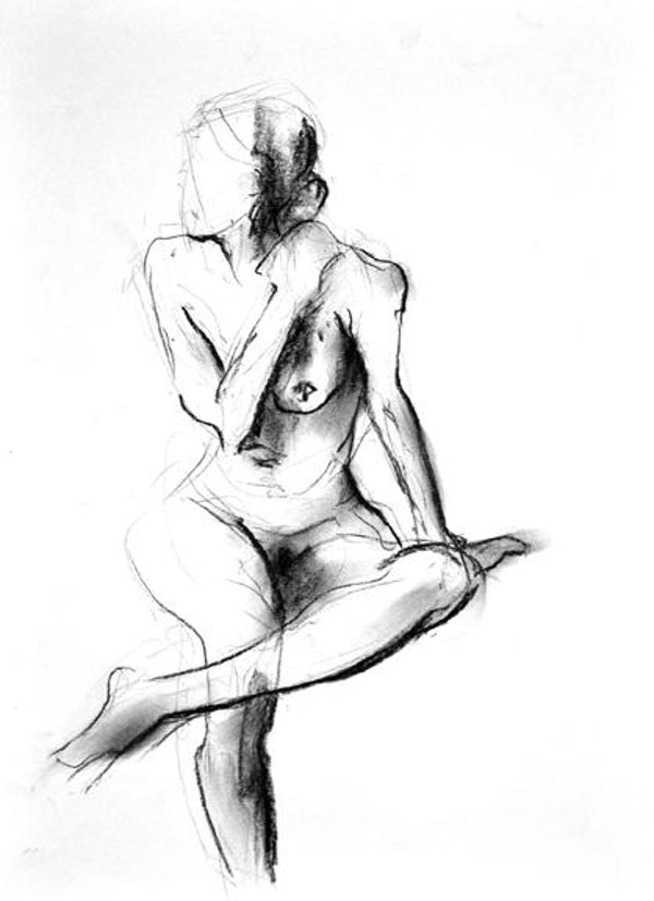 22ins x 18ins compressed charcoal on paper £435