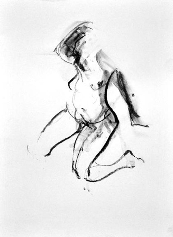 compressed charcoal on paper 18 x 14 inches £375