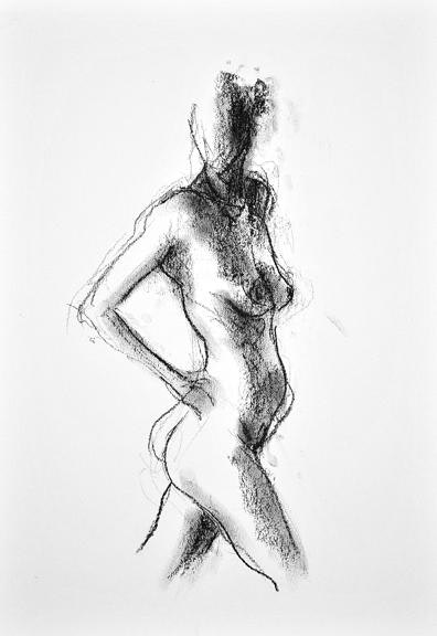 compressed charcoal on paper 22 x 18 inches £295