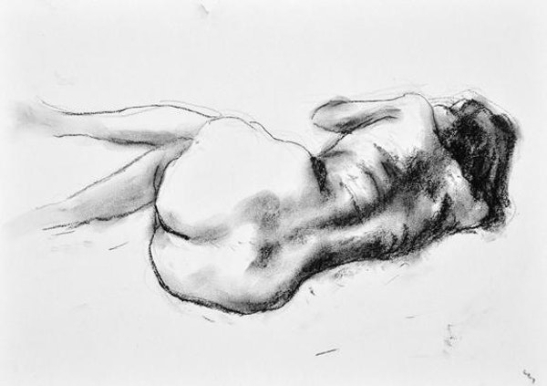 compressed charcoal on paper 18 x 22 inches £340