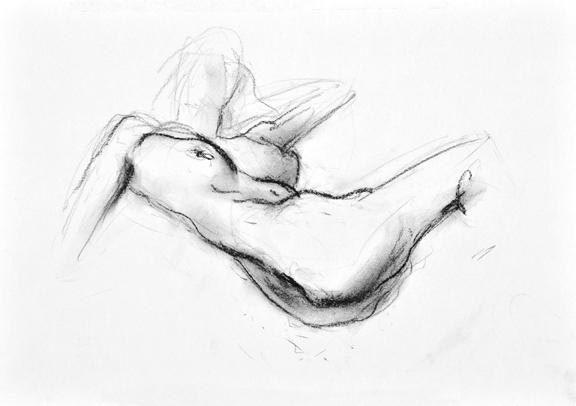 compressed charcoal on paper 18 x 22 inches £395